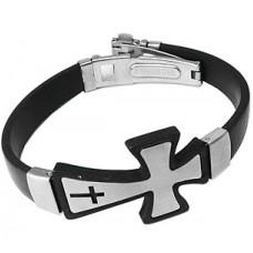 Celtic Wrist Stainless Steel Cross Bracelet