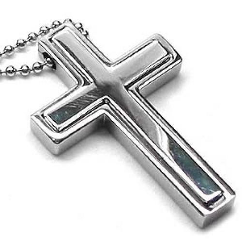 Contemporary titanium cross necklace mozeypictures Choice Image