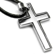 Dual Contemporary Cross Necklace