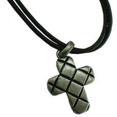 Metal Fiber Cross Necklace