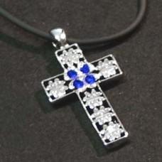 Lucky Clover - Blue Cross Necklace
