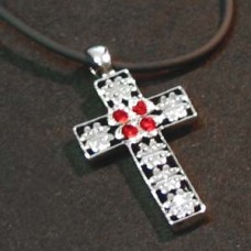Lucky Clover - Red Cross Necklace