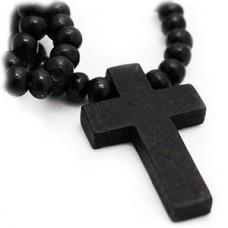 Simplicity Wood Cross Necklace