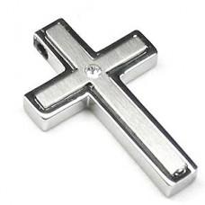 Clear Heart Original Stainless Steel Cross Pendant