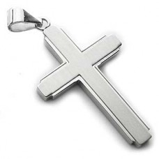 Gardian Contemporary Stainless Steel Cross Pendant