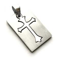 Shinning Crusade Stainless Steel Cross Pendant