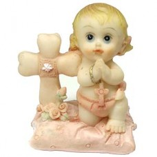 Praying Baby Girl Figurine
